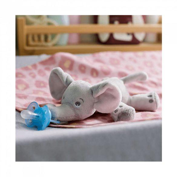 Avent SCF348/11 Snuggle plüss cumitartó és ultrasoft játszócumi 0-6 hó (elefánt)