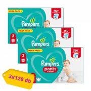 Pampers Pants bugyipelenka Midi 3, 6-11 kg 2+1, 360 db