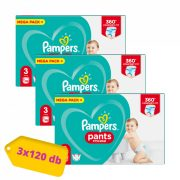 Pampers Pants bugyipelenka Midi 3, 6-11 kg 2+1, 360 db