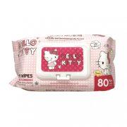 Hello Kitty kupakos nedves törlőkendő 80 db
