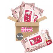 Hello Kitty kupakos nedves törlőkendő 24x80 db