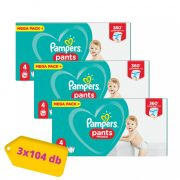 Pampers Pants bugyipelenka Maxi 4, 9-15 kg 2+1, 312 db