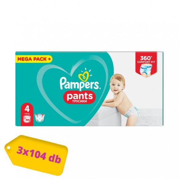 Pampers Pants bugyipelenka, Maxi 4, 9-15 kg, 2+1, 312 db