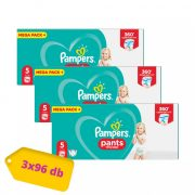 Pampers Pants bugyipelenka Junior 5, 12-18 kg 2+1 AKCIÓ 288 db