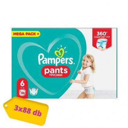 Pampers Pants bugyipelenka, XL 6, 15 kg+, 2+1, 264 db
