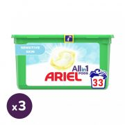 Ariel Sensitive mosókapszula (3x33 db)