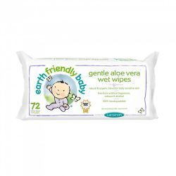 Earth Friendly Baby organikus nedves törlőkendő aloe vera-val 72 db-os