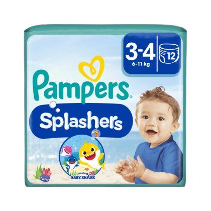 Pampers Splashers úszópelenka, méret: 3-4 (6-11 kg), 12 db
