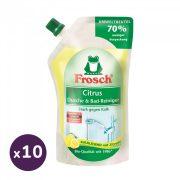 Frosch fürdőszoba tisztító utántöltő citrommal 10x500 ml